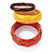 Orange, Yellow And Brown Acrylic Bangles - Set Of 3