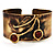 Ethnic Cherry Handmade Cuff Bangle - view 1
