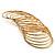 Gold Plated Thin Smooth & Textured Bangle Set - 12 Pcs - view 3