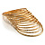 Gold Plated Thin Smooth & Textured Bangle Set - 12 Pcs - view 9