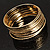 Gold Plated Thin Smooth & Textured Bangle Set - 12 Pcs - view 11