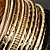 Gold Plated Thin Smooth & Textured Bangle Set - 12 Pcs - view 6