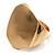 Chunky Asymmetrical Gold Tone Hinged Fashion Bangle