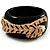 Black Resin Crystal &#039;Tiger&#039; Bangle (Gold Tone) - Catwalk 2012 - view 3