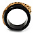 Black Resin Crystal &#039;Tiger&#039; Bangle (Gold Tone) - Catwalk 2012 - view 11