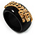 Black Resin Crystal &#039;Tiger&#039; Bangle (Gold Tone) - Catwalk 2012 - view 6