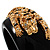 Black Resin Crystal &#039;Tiger&#039; Bangle (Gold Tone) - Catwalk 2012 - view 4