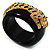 Black Resin Crystal &#039;Tiger&#039; Bangle (Gold Tone) - Catwalk 2012 - view 2