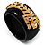 Black Resin Crystal &#039;Tiger&#039; Bangle (Gold Tone) - Catwalk 2012 - view 9