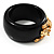 Black Resin Crystal &#039;Tiger&#039; Bangle (Gold Tone) - Catwalk 2012 - view 5