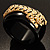 Black Resin Crystal &#039;Tiger&#039; Bangle (Gold Tone) - Catwalk 2012 - view 13