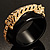 Black Resin Crystal &#039;Tiger&#039; Bangle (Gold Tone) - Catwalk 2012 - view 14