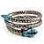 Silver Plated Diamante Snake Flex Bangle Bracelet - view 6