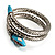 Silver Plated Diamante Snake Flex Bangle Bracelet - view 7