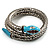 Silver Plated Diamante Snake Flex Bangle Bracelet - view 8