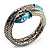 Silver Plated Diamante Snake Flex Bangle Bracelet - view 9