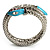 Silver Plated Diamante Snake Flex Bangle Bracelet - view 10