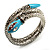 Silver Plated Diamante Snake Flex Bangle Bracelet - view 1