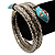 Silver Plated Diamante Snake Flex Bangle Bracelet - view 5