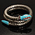 Silver Plated Diamante Snake Flex Bangle Bracelet - view 11