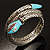 Silver Plated Diamante Snake Flex Bangle Bracelet - view 2