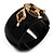 Wide Black Resin &#039;Snake&#039; Hinged Bangle Bracelet - view 8