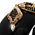 Wide Black Resin &#039;Snake&#039; Hinged Bangle Bracelet - view 5