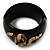 Wide Black Resin &#039;Snake&#039; Hinged Bangle Bracelet - view 13