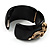 Wide Black Resin &#039;Snake&#039; Hinged Bangle Bracelet - view 7