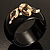 Wide Black Resin &#039;Snake&#039; Hinged Bangle Bracelet - view 14