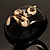 Wide Black Resin &#039;Snake&#039; Hinged Bangle Bracelet - view 16