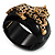 Black Resin Crystal 'Tiger' Hinged Bangle (Gold Tone) - Catwalk 2012 - view 15