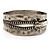 Burn Silver 'Zipper' Hinged Bangle Bracelet