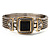 Two Tone Mesh Hinged Bangle Bracelet