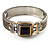 Two Tone Mesh Hinged Bangle Bracelet - view 9