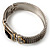 Two Tone Mesh Hinged Bangle Bracelet - view 10