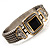 Two Tone Mesh Hinged Bangle Bracelet - view 13
