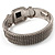 Two Tone Mesh Hinged Bangle Bracelet - view 8