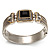 Two Tone Mesh Hinged Bangle Bracelet - view 3