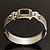 Two Tone Mesh Hinged Bangle Bracelet - view 16