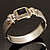 Two Tone Mesh Hinged Bangle Bracelet - view 6