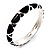 Black Enamel &#039;Criss Cross&#039; Hinged Bangle Bracelet (Silver Tone Metal) - view 11