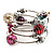 Silver-Tone Beaded Multistrand Flex Bracelet (Multicoloured)