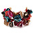 Multicoloured Floral Shell & Simulated Pearl Cuff Bracelet (Silver Tone) - view 7