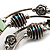 Silver-Tone Beaded Multistrand Flex Bracelet (Forest green) - view 5