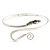 Rhodium Plated Snake Upper Arm Bracelet Armlet - view 3