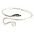 Rhodium Plated Snake Upper Arm Bracelet Armlet - view 6
