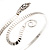 Rhodium Plated Snake Upper Arm Bracelet Armlet - view 7