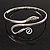 Rhodium Plated Snake Upper Arm Bracelet Armlet - view 2
