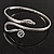 Rhodium Plated Snake Upper Arm Bracelet Armlet - view 8